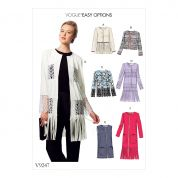 Vogue Ladies Easy Sewing Pattern 9247 Embellished Jackets & Waistcoat
