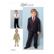 Vogue Boys Sewing Pattern 9248 Jacket, Flat Front Shorts & Trousers Pant Suit