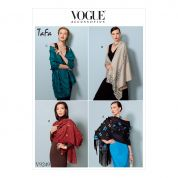 Vogue Ladies Easy Sewing Pattern 9249 Embellished Wraps in Four Styles