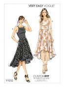 Vogue Ladies Easy Sewing Pattern 9252 Princess Seam High Low Dresses