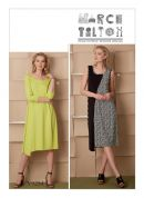 Vogue Ladies Sewing Pattern 9254 Pullover Dresses with Asymmetrical Front