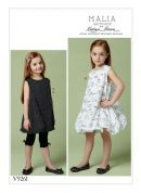 Vogue Girls Easy Sewing Pattern 9261 Tunic & Dress with Bubble Hem & Leggings