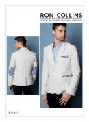 Vogue Mens Sewing Pattern 9262 Lined Jacket with Contrast Top Stitching & Elbow Patches