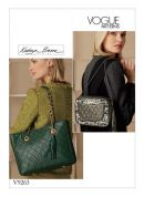 Vogue Accessories Sewing Pattern 9263 Handbags with Quilted Front