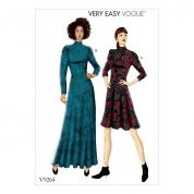 Vogue Ladies Easy Sewing Pattern 9264 Knit Fit & Flare Dresses