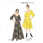 Vogue Ladies Easy Sewing Pattern 9265 Flare Dresses with Poof Sleeves
