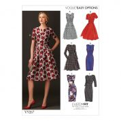 Vogue Ladies Easy Sewing Pattern 9267 Fit & Flare Dresses with Pockets