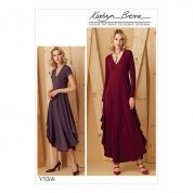 Vogue Ladies Easy Sewing Pattern 9268 Knit V Neck Draped Dresses