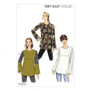 Vogue Ladies Easy Sewing Pattern 9270 Princess Seam Tunic Tops
