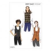 Vogue Ladies Easy Sewing Pattern 9273 Lined Waistcoats
