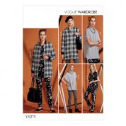 Vogue Ladies Easy Sewing Pattern 9275 Jacket, Knit Tunic, Leggings & Pants