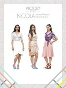 Victory Patterns Ladies Easy Sewing Pattern Nicola Wrap Dress