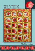 Villa Rosa Wild Thing Quilt Postcard Quilting Pattern