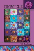 Villa Rosa Midnight Blue Quilt Postcard Quilting Pattern