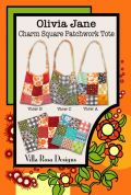Villa Rosa Olivia Jane Charm Square Patchwork Tote Postcard Quilting Pattern