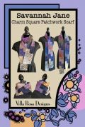 Villa Rosa Savannah Jane Charm Square Patchwork Scarf Postcard Quilting Pattern