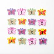 Wood Butterfly Buttons  Assorted Colours