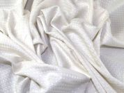 Large Cotton Waffle Dress Fabric  Ivory