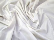 Small Cotton Waffle Dress Fabric  Ivory