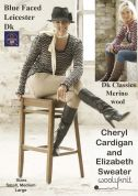 WoolyKnit Blue Faced Leicester DK Ladies Cheryl Cardigan/Elizabeth Sweater Knitting Pattern