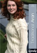 Wendy Traditional Aran 315 Knitting Pattern Book  Aran