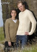Wendy Family Arans Book Two 347 Knitting Pattern Book  Aran