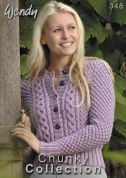 Wendy Chunky Collection 348 Knitting Pattern Book  Chunky