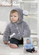 Peter Pan Baby Hooded Sweater & Jacket Precious Knitting Pattern 1294  Chunky