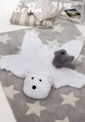 Peter Pan Baby Polar Bear Rug & Duckling Toy Precious Knitting Pattern 1299  Chunky