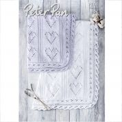 Peter Pan Baby Blanket Baby Cotton Knitting Pattern 1308  DK