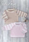 Peter Pan Baby Sweaters Baby Cotton Knitting Pattern 1310  DK
