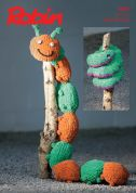 Robin Caterpillar & Snake Cuddly Toys Firecracker Knitting Pattern 3001  Super Chunky