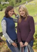 Wendy Ladies Sweater & Tank Top Traditional Wool Knitting Pattern 5210  Aran