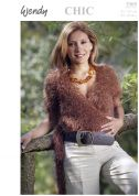 Wendy Ladies Wrap Over Top Chic Knitting Pattern 5305