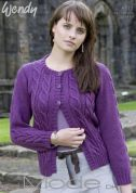 Wendy Ladies Cardigan Mode Knitting Pattern 5517  DK