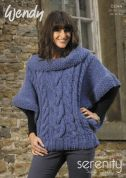 Wendy Ladies Oversized Sweater Top Serenity Knitting Pattern 5644  Super Chunky