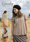 Wendy Ladies Swing Tunic Top & Shawl Supreme Knitting Pattern 5665  DK
