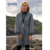 Wendy Ladies Jacket Merino & Mode Knitting Pattern 5693  Chunky