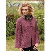 Wendy Ladies Cabled Jacket Traditional Wool Knitting Pattern 5700  Aran