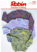 Wendy Childrens Sweaters Knitting Pattern 5706  DK