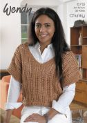 Wendy Ladies Lacy Top Supreme Knitting Pattern 5713  Chunky