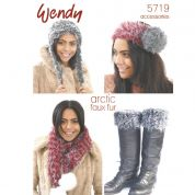 Wendy Ladies Accessories Knitting Pattern 5719