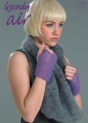Wendy Ladies Lacy Cowl & Mitts Air Knitting Pattern 5728  4 Ply