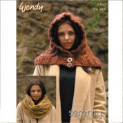 Wendy Ladies Cowl & Hood Serenity Knitting Pattern 5750  Super Chunky
