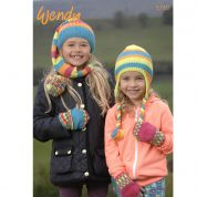 Wendy Childrens Hats & Mittens Mode Knitting Pattern 5760  DK