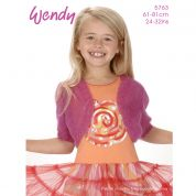 Wendy Girls Bolero Air Knitting Pattern 5763  4 Ply