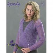 Wendy Ladies Cardigan Air Knitting Pattern 5764  4 Ply
