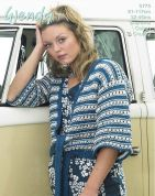 Wendy Ladies Tie Front Kimono Cardigan Supreme Knitting Pattern 5775  Chunky