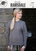 Wendy Ladies Sweater Ramsdale Knitting Pattern 5784  DK