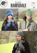 Wendy Mens & Ladies Hats, Gloves & Mittens Ramsdale Knitting Pattern 5789  DK